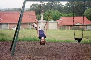 Swing upside down